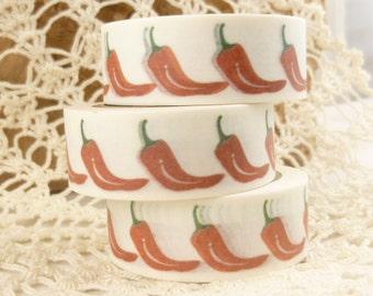 Red Hot Chili Pepper, Italian Bell Pepper Washi Tape - Q2233