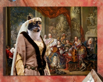 Calico Cat Fine Art Canvas Print - Concert at Palacy