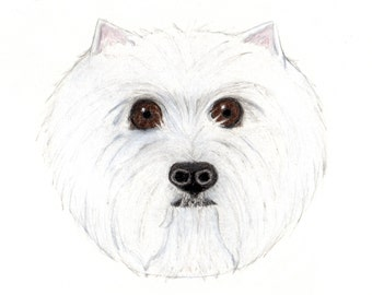 Westie Cards: Set of Six Westie GIFT TAGS
