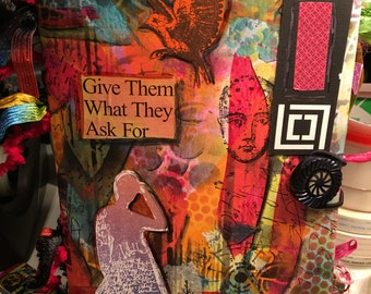 Handmade Paper Journal-Give Them What They Ask For