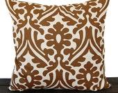 Pillow, Throw Pillow, Pillow Cover, Cushion, Decorative Pillow, Holly Caramel Brown Cream geometric traditional contemporary modern decor