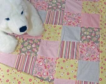 Baby quilt blanket | Patchwork quilt
