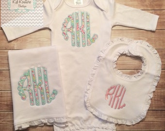 New baby going home gift set