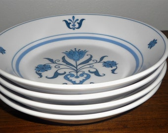 Noritake Blue Haven Fruit or Dessert Bowls set of 4  (SALE)