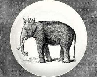 Elephant princess melamine plate
