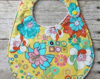 Spring Baby Bib, Baby girl bib --- Ready to ship