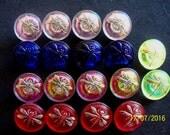 Czech  Glass Buttons  26 pcs   DRAGONFLY  18 mm     special order