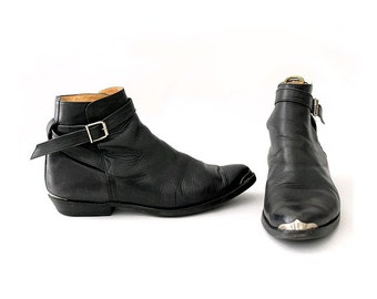 Sancho pointed toes 80s low Boots black I  buckle chelsea boots euro 42