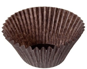 50 Brown Glassine Baking Cupcs/Greaseproof Cupcake Liners/Cupcake Liners/Brown Cupcake Liners/Liners/Baking Cups
