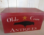 Handmade Keepsake Box - Barn Red, Olde Crow