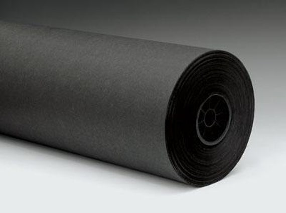 30 Foot Chalkboard Black Kraft Paper Roll 50 Weight