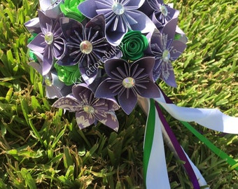 Origami Paper Flower Bouquet // Kusudama Origami Bouquet/ Paper Flower Arrangement/ Wedding Bouquet / Bridal Bouquets/ Centerpiece