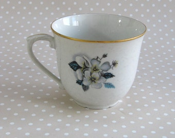 Vintage Floral Epiag Cup Made in Czechoslovakia