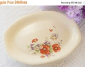 On Sale Homer Laughlin Vintage Floral Platter - Vintage, Antique, French Decor, Shabby Chic,  Wedding, Serving, Home Decor, Farmhouse