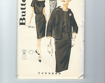 UNCUT Vintage Sewing Pattern Butterick 3012, 1960s, Sz 12