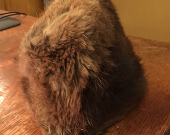 Antique Muskrat Fur Hat