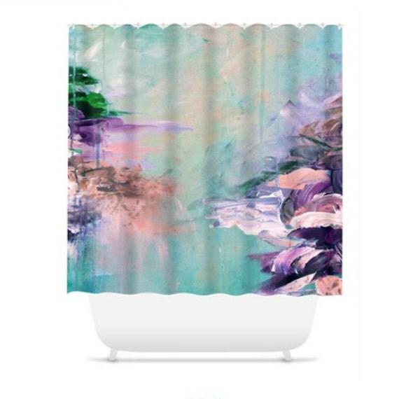 WINTER DREAMLAND 2 Turquoise Shower Curtain Ocean By EbiEmporium