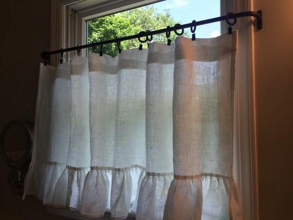 Iron Cafe Curtain Rod 1 2 Round Petite Cafe Iron