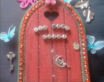 """Red Wine Fairy Door """" especially for adults"""" Do you fancy one more glass of red wine your fairy says it ok"""