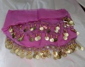 Stunning Chic Belly Dancers Hip Skirt- Excellent Condition-Lilac