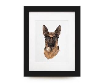 German Shepherd Portrait Print