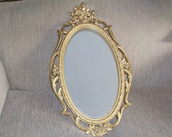 Vintage Large  Ornate Oval Mirror Syroco Plastic / Hollywood Regency /New Listing NOT INCLUDED In Coupon Clearance Sale /:) S