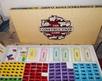 The Construction Game 1993 Hard to Find Game ,Vintage Board Game, Board Game, Vintage Toys, Toys, :)S