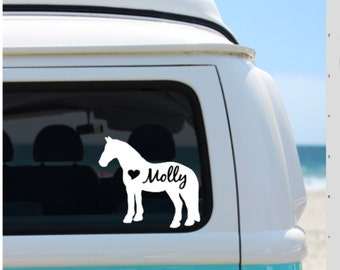 Horse Decal | Personalized Horse  | Car Decal | Laptop Decal | Window Decal | Notebook Decal | Horse  Silhouette