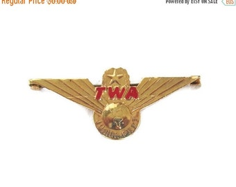 ON SALE TWA Junior Pilot Wings Pin 1960s Aviation Collectible Industrial Souvenir