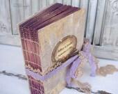 Cottage Chic Wedding Guest Book,Beige,Gold, Lavender Photo album, Shabby Chic Wedding, Custom Wedding Photo Booth album