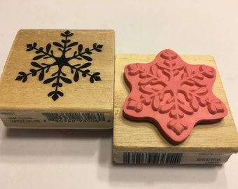 LARGE Snowflake rubber stamp, 45 mm (BB1/2)