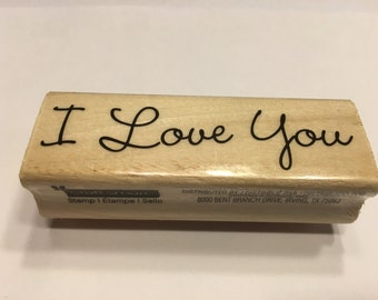 I Love you, rubber stamp, 70 mm (A11/1)