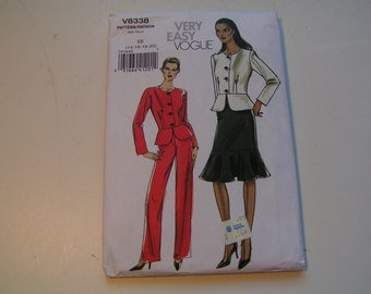 Vogue PatternV8338 very easy Miss Jacket Skirt Pants