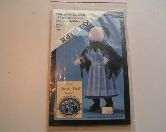 Vintage Ruth Doll Pattern 102P 18 Faceless Amish Doll and Clothing