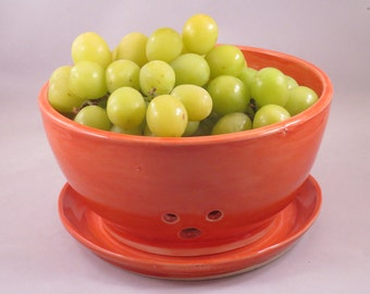 Large Coral Berry Bowl  or Colander