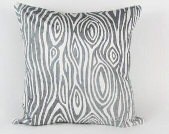 "Grey Pillow Cover. Gray Pillow Cover-Gray Striped Pillow-Gray and White Striped Pillow..16"",17"",18"",20"" 24"" 26"", Lumbar Pillow or Euro Sham"