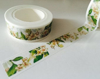 White Oleander Flower Washi Tape