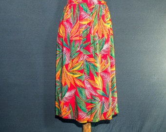 Charming summer skirt - bold print - ladies small