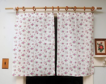 PAIR Handmade Roses Curtain Panels Floral