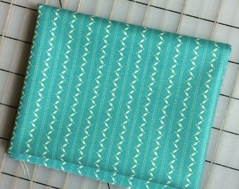 HALF YARD cut of Denyse Schmidt Ansonia - Fine Stripe in Turquoise -  100% cotton by Free Spirit PWDS 068