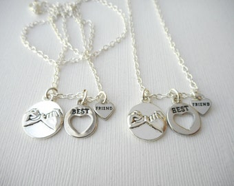 2 Pinky Promise, Best Friend Necklaces/ Friends Forever, for friends, Friend, Birthday Gift, long distance, Friends, sister necklace