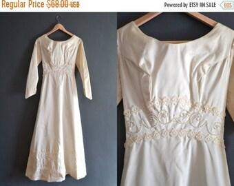SALE - 60s wedding dress / 1960s wedding dress / Sadie