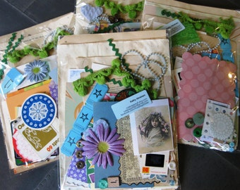 Inspiration Kit of 100 pieces - Ephemera for art journals,  junk journals, collage, smash book, scrapbooks and more.