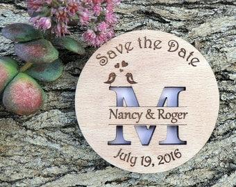 Custom Save The Date Magnet Set, Rustic Wedding Gift, Personalised Save the Date Magnet, Wedding Magnet, Bridal Shower Magnet - Set of 20