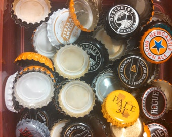 100 Mixed Lot of Bottle Caps for Crafts or Jewelry