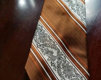 Vintage Men's Necktie with Tags Deadstock Brown