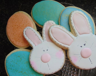 Easter Bunny and Easter Egg cookies