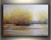 "Original Oil Painting Landscape painting ORIGINAL art Painting Oil Original Painting Palette Knife Large Art Painting 30x40"" - Tatjana Ruzin"
