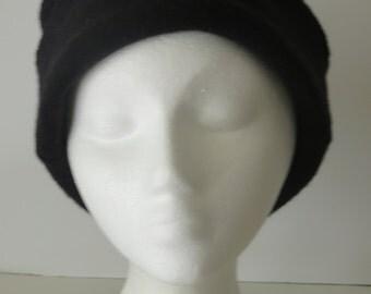 Black Felted Wool Hat