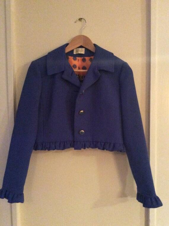 Mod Ruffle Collared Jacket